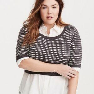 Torrid Jacquard Knit Cropped Sweater Size 2 (2X)
